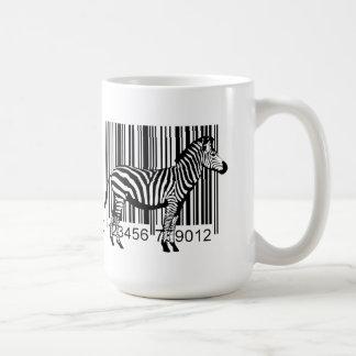 バーコードのシマウマのイラストレーション コーヒーマグカップ
