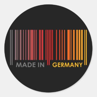 バーコードの旗はドイツ暗いデザインを着色します ラウンドシール