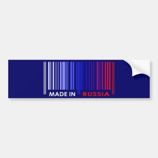 バーコードの旗はロシアの暗いデザインを着色します バンパーステッカー