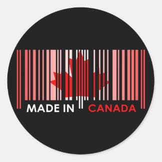 バーコードの旗色のカナダの暗いデザイン ラウンドシール