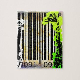 バーコードの芸術のデザインのベクトルおもしろい色 ジグソーパズル
