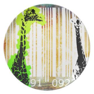 バーコードの芸術のデザインのベクトルおもしろい色 プレート