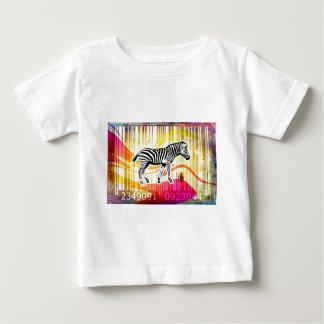 バーコードの芸術のデザインのベクトルおもしろい色 ベビーTシャツ