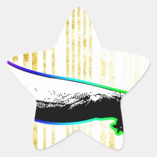 バーコードの芸術のデザインのベクトルおもしろい色 星シール