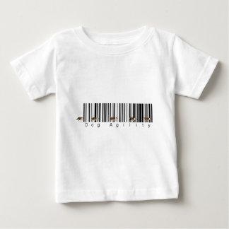 バーコード犬の敏捷の織り方 ベビーTシャツ