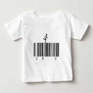 バーコード26.2 ベビーTシャツ