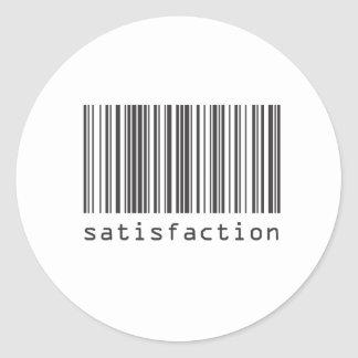 バーコード-満足 ラウンドシール