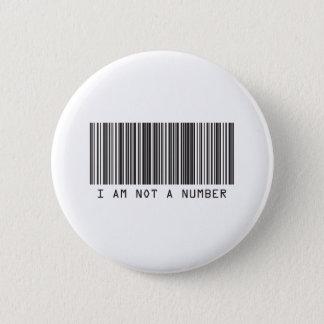 バーコード-私は数ではないです 缶バッジ