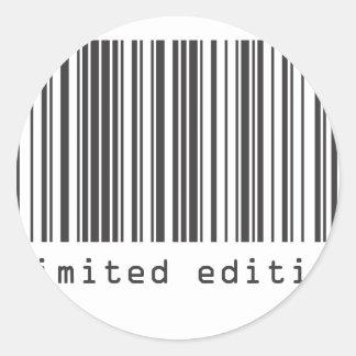 バーコード-限定版 ラウンドシール