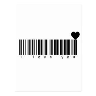 バーコードI愛 ポストカード