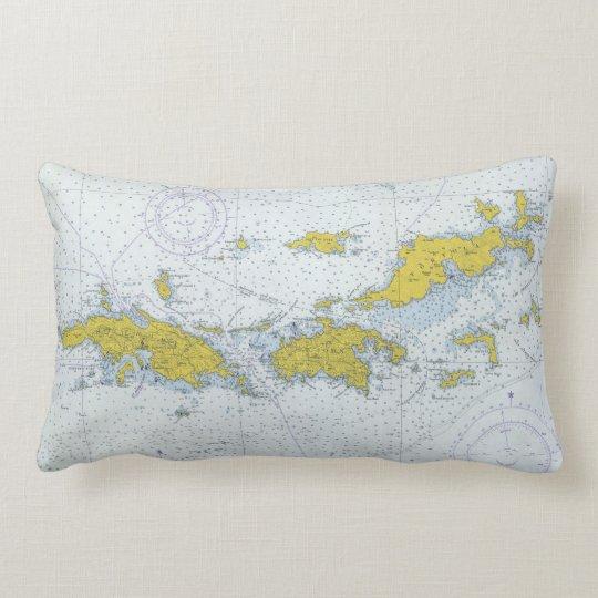 バージン諸島のnatuical図表の地図 ランバークッション