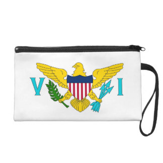 バージン諸島、米国の旗が付いているBagettesのバッグ リストレット