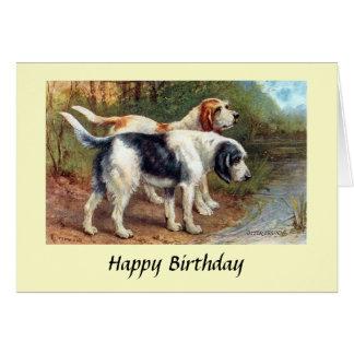 バースデー・カード-カワウソ猟犬 カード