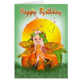 バースデー・カード- Mooniesの柑橘類の妖精 カード