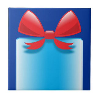 バースデー・プレゼントの青 タイル