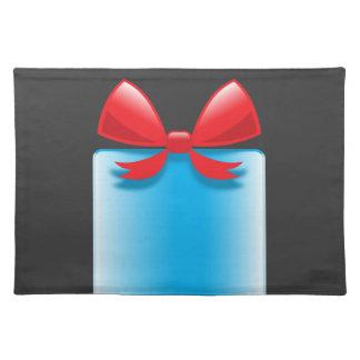 バースデー・プレゼントの青 ランチョンマット