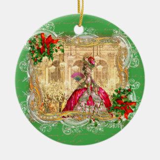 バーセイルズのクリスマスのMarieアントワネット セラミックオーナメント