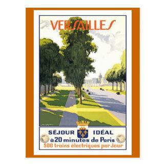 バーセイルズのヴィンテージのフランス人旅行ポスター ポストカード