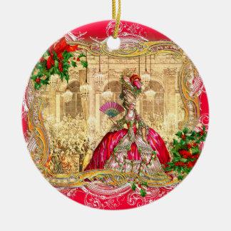バーセイルズのMarieアントワネットのクリスマス セラミックオーナメント