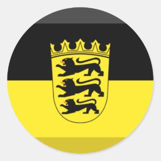 バーデンビュルテンベルクの旗の宝石 ラウンドシール