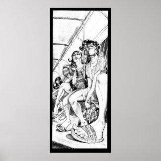 バートの乗車の家のプリント ポスター