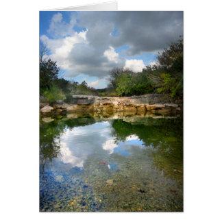 バートンの入り江-オースティンテキサス州の穏やかな対の滝 カード