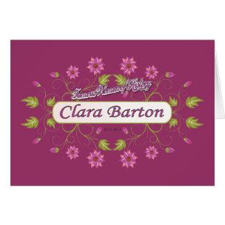 バートンの~クララバートン/有名な米国の女性 カード