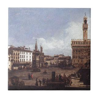 バーナード著フィレンツェの広場のdella Signoria タイル
