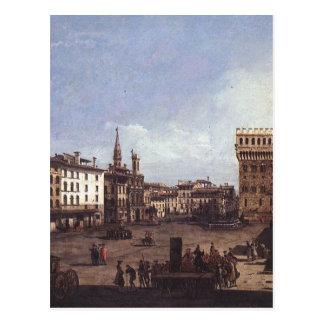 バーナード著フィレンツェの広場のdella Signoria ポストカード
