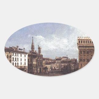 バーナード著フィレンツェの広場のdella Signoria 楕円形シール