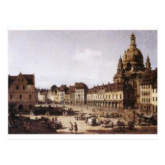 バーナードBellotto著ドレスデンの新市場の正方形 ポストカード