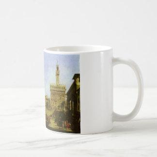 バーナードBellotto著フィレンツェのSignoriaスクエア コーヒーマグカップ