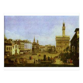 バーナードBellotto著フィレンツェのSignoriaスクエア ポストカード