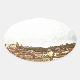 バーナードBellotto著ベロナVeduta 楕円形シール