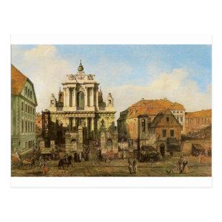 バーナードBellotto著ワルシャワのCarmelite教会 ポストカード