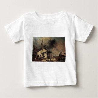 バーナードBellotto著礁湖の景色 ベビーTシャツ