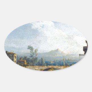 バーナードBellotto著Capriccio Padovano 楕円形シール