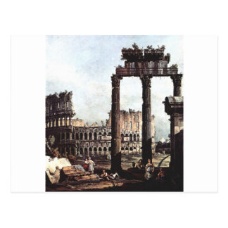 バーナードBellotto著ColosseumのCapriccio ポストカード