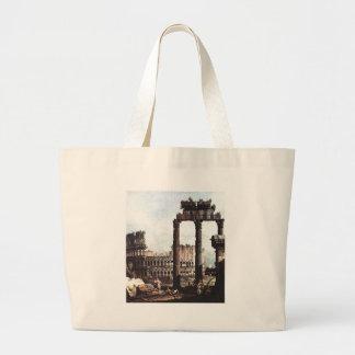 バーナードBellotto著ColosseumのCapriccio ラージトートバッグ