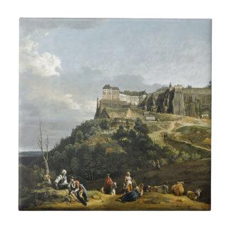 バーナードBellotto著Konigsteinの要塞 タイル