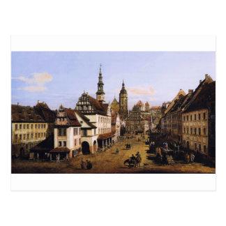 バーナードBellotto著Pirnaの市場 ポストカード