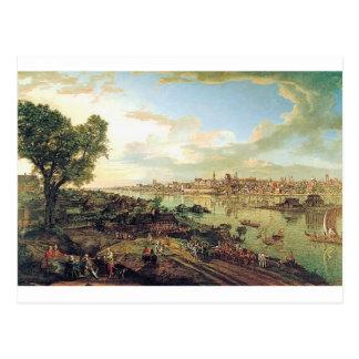 バーナードBellotto著Pragaからのワルシャワの眺め ポストカード