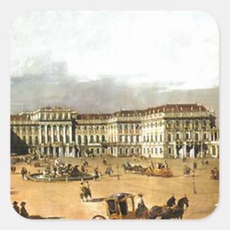 バーナードBellotto著Schloss Schonbrunn スクエアシール