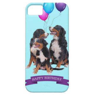 バーニーズ・マウンテン・ドッグのハッピーバースデー iPhone SE/5/5s ケース