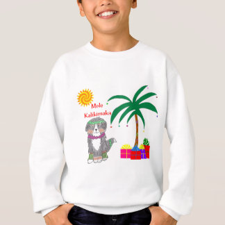 バーニーズ・マウンテン・ドッグのハワイアンのクリスマス スウェットシャツ