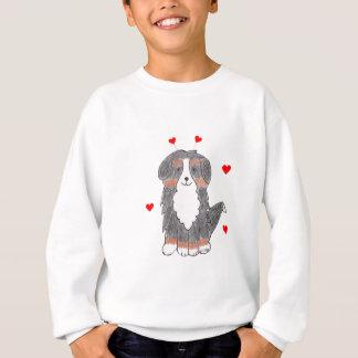 バーニーズ・マウンテン・ドッグのバレンタインの耳 スウェットシャツ