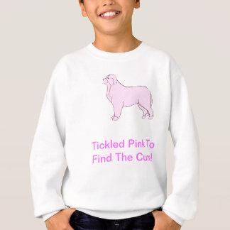 バーニーズ・マウンテン・ドッグのピンク犬 スウェットシャツ