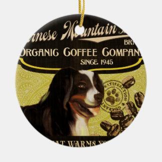 バーニーズ・マウンテン・ドッグのブランド-オーガニックなコーヒーCompan セラミックオーナメント