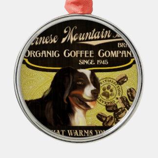 バーニーズ・マウンテン・ドッグのブランド-オーガニックなコーヒーCompan メタルオーナメント