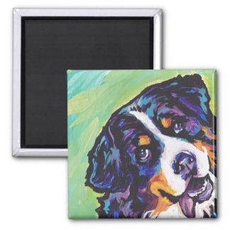 バーニーズ・マウンテン・ドッグのポップアートの磁石 マグネット